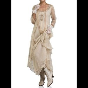 NEW Nataya Pearl Downton Abbey Maxi Dress M